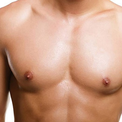 Topless man with chest